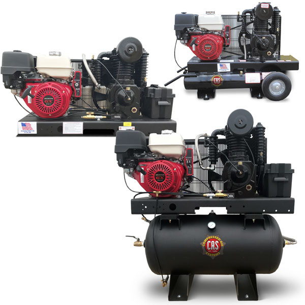 13 HP 23 cfm Honda Engine Driven Compressor