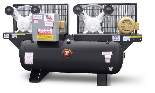 5 HP Duplex Oil-free Industrial-Duty Compressors